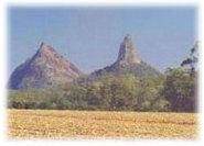 Beautiful views of the Glasshouse Mountains