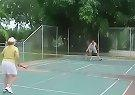 Game of Tennis at the Glasshouse Mountains Holiday Village